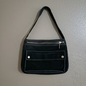 Banana republic suede shoulder purse